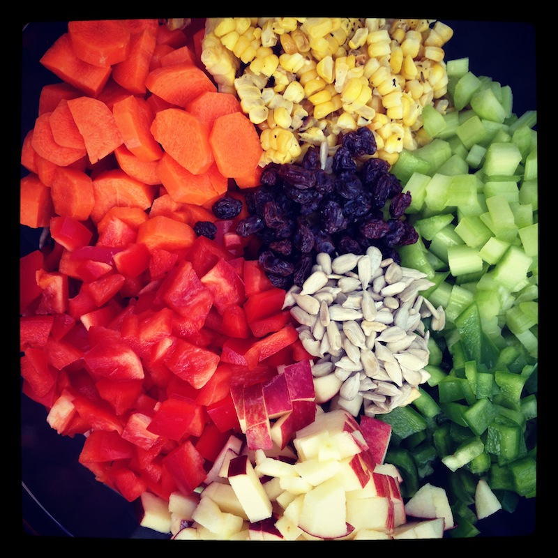 eat a rainbow salad
