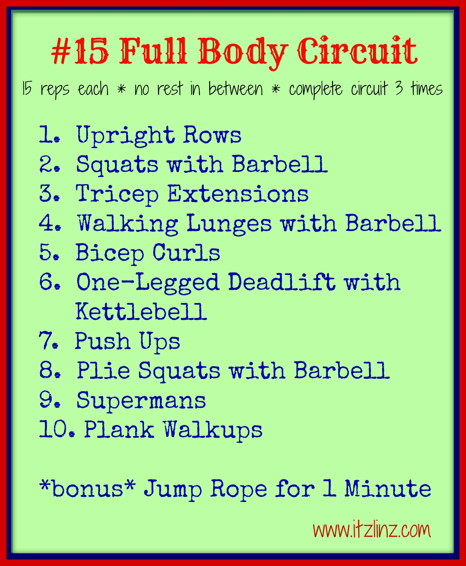 #15 Full Body Circuit
