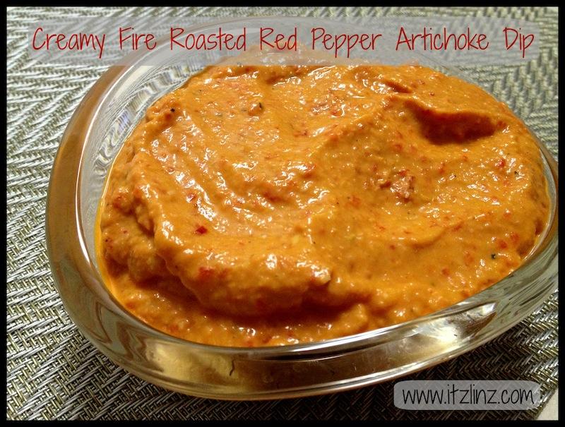 Creamy Fire Roasted Red Pepper Artichoke Dip