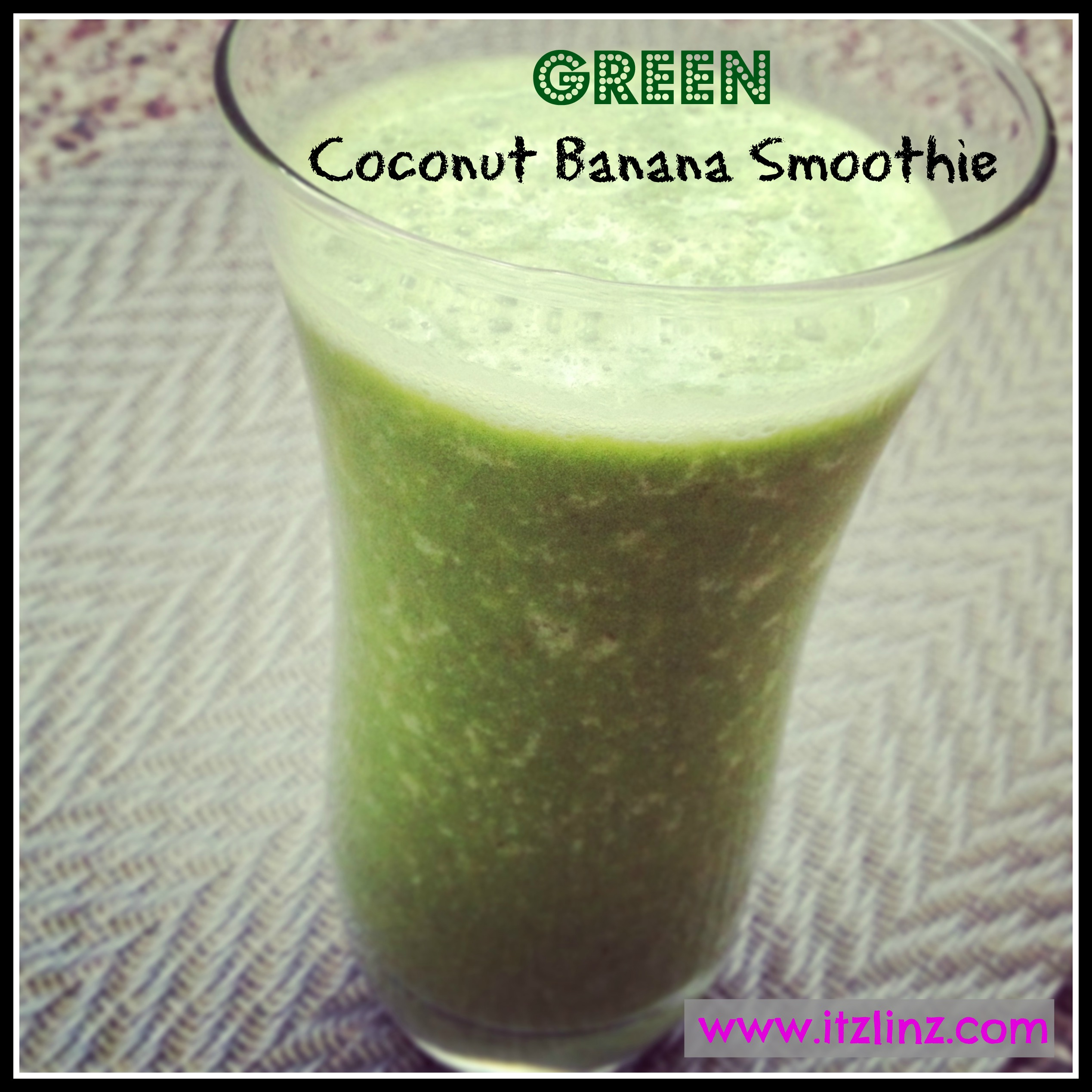 Green Coconut Banana Smoothie