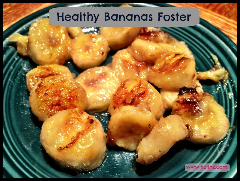 Healthy Bananas Foster