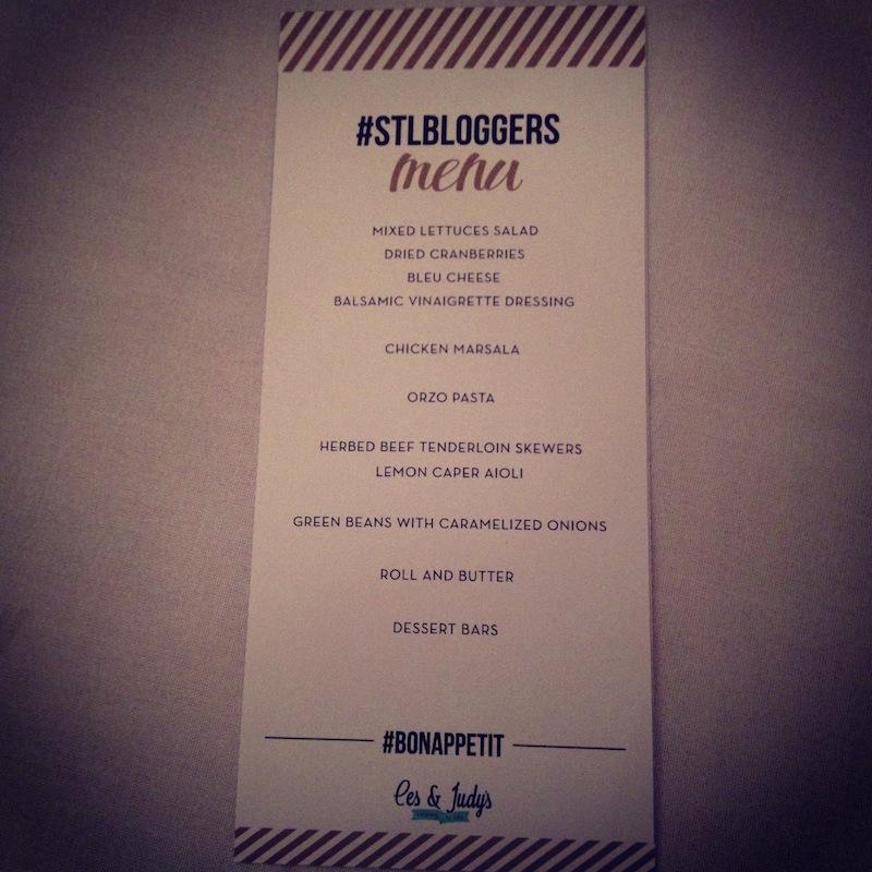ces & judy's menu
