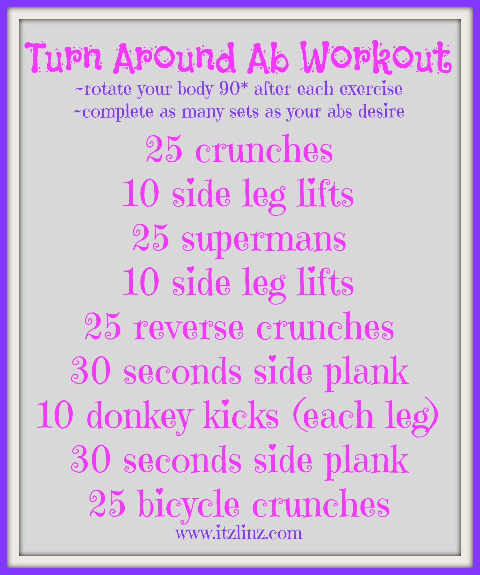 turn around ab workout