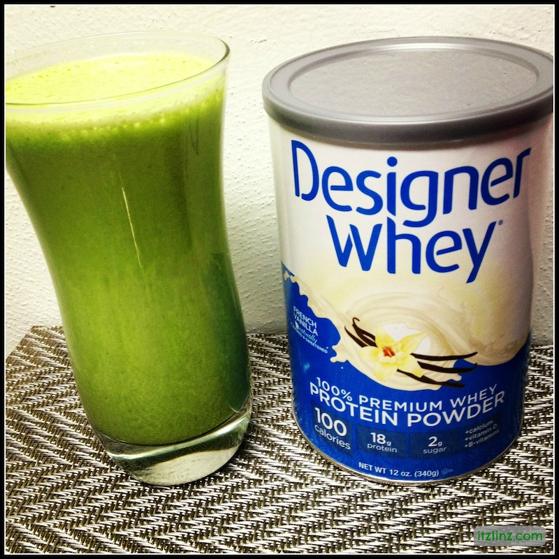 designer whey smoothie