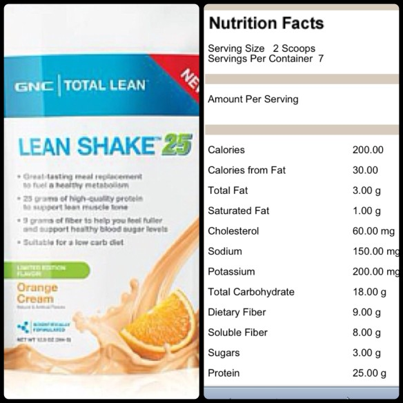 GNC Orange Cream