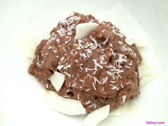 Chocolate Coconut Chia Pudding 1