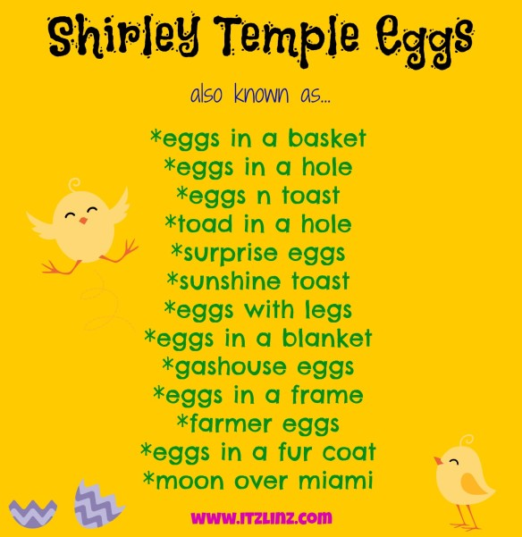 Shirley Temple Eggs