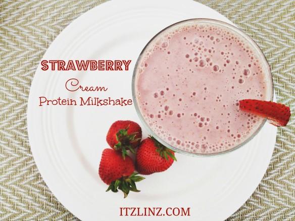 Strawberry Cream Protein Milkshake