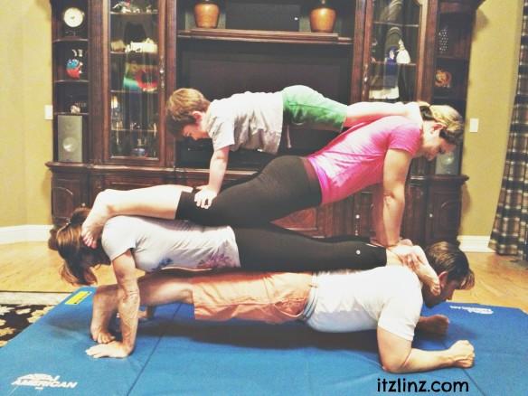 family tandem yoga