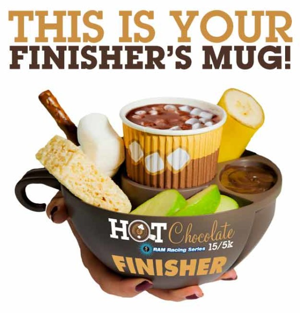 finishers mug hot chocolate
