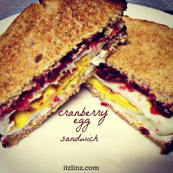 cranberry egg sandwich