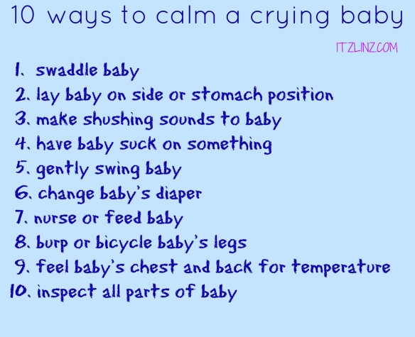 10 ways to calm a crying baby
