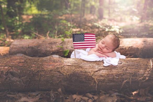 William american flag baby