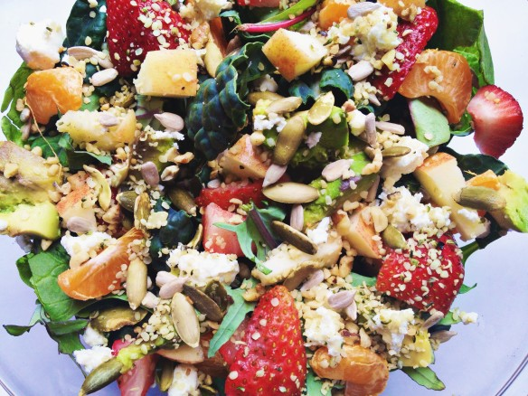 fruit nut seed salad