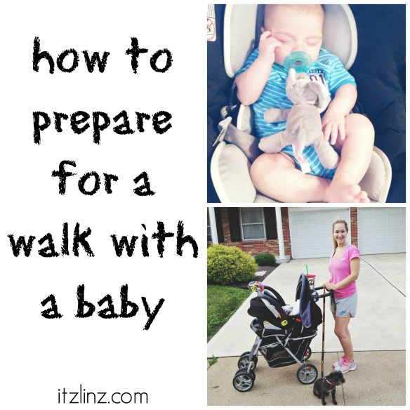 how to prepare for a walk with a baby