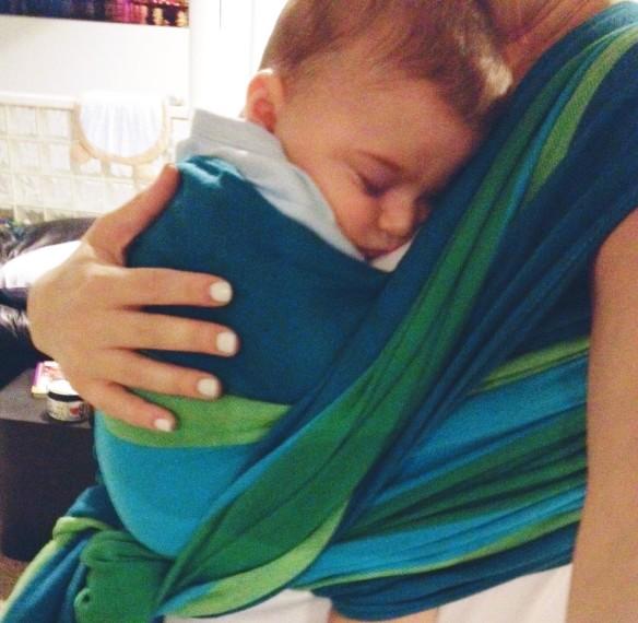 babywearing sleep