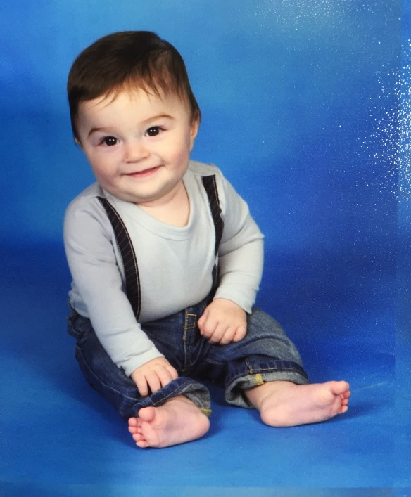 first school picture 8months