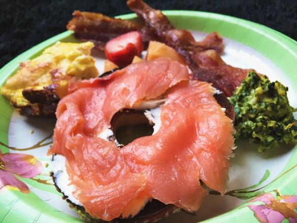 bagel lox bacon