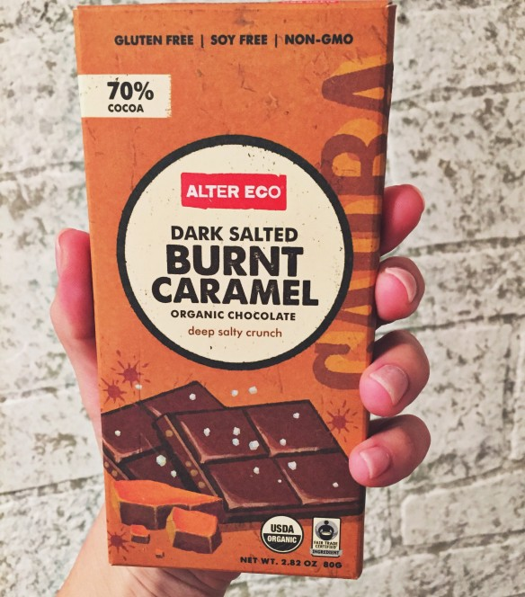 burnt caramel chocolate