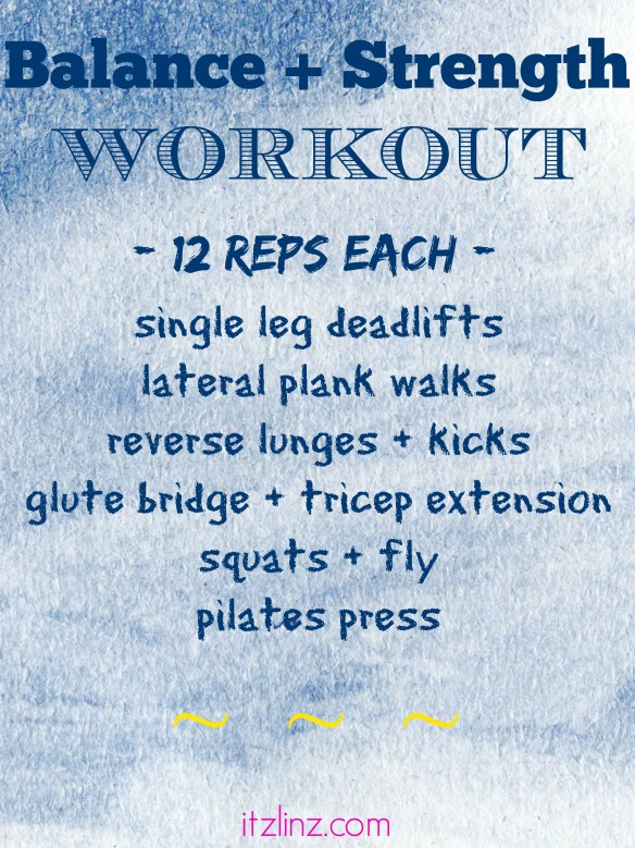 balance strength workout