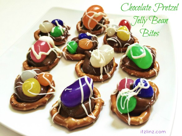 chocolate pretzel jelly bean bites