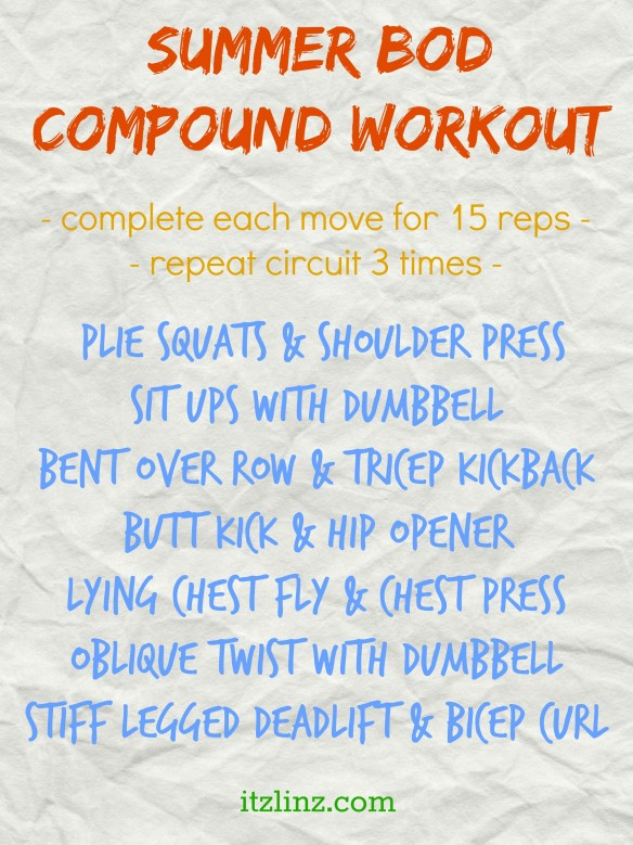 summer bod compound workout