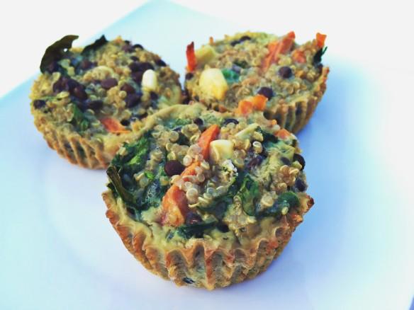 egg veggie quinoa lentil muffins