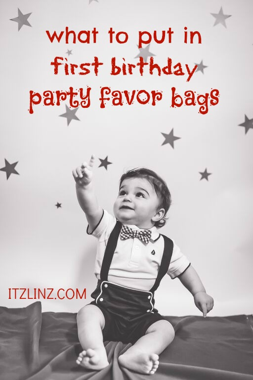 what to put in first birthday party favor bags