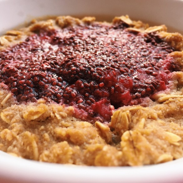 summer berry jam oat bowl