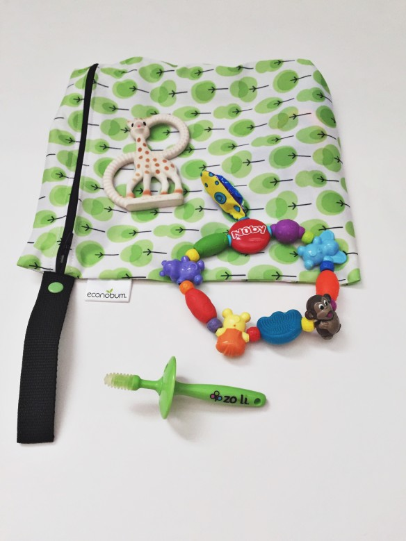 teethers diaper bag