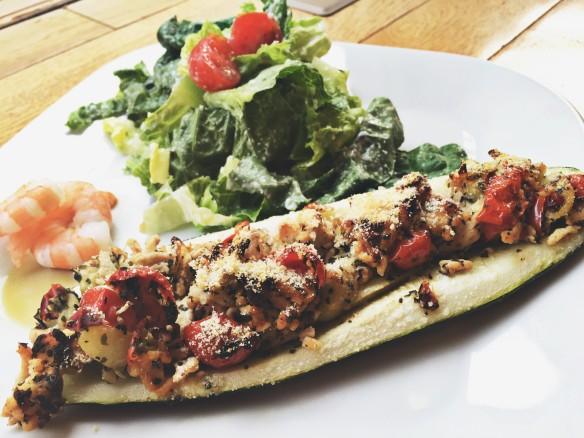 zucchini turkey boat