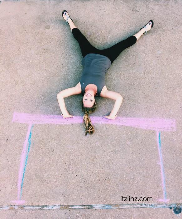 handstand chalkgram
