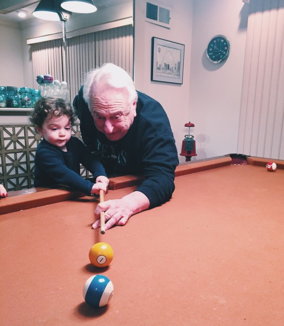 papa first pool lesson dec15