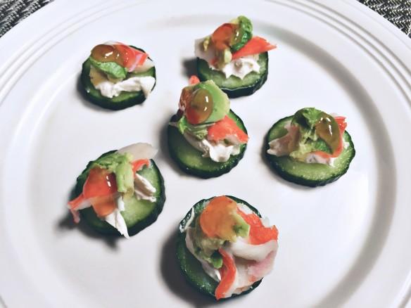 cucumber crab bites appetizer