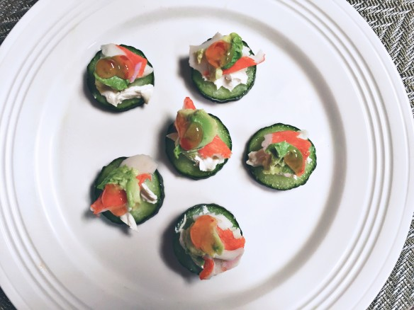 cucumber crab bites recipe