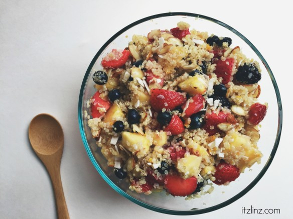 honey ginger quinoa fruit salad recipe