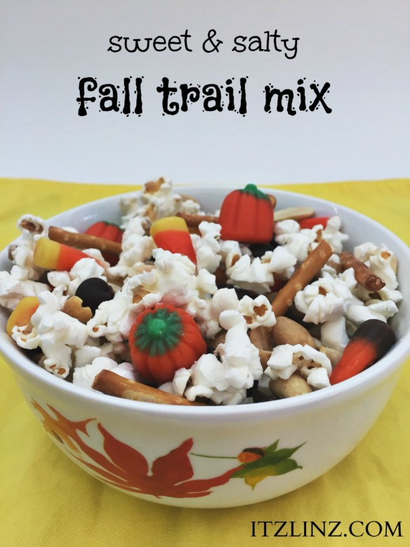 sweet and salty fall trail mix